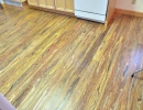 Uniquely beautiful EcoTimber - Woven Poplar hardwood flooring on upper level