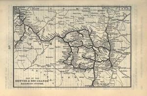 1903 Denver and Rio Grande Map